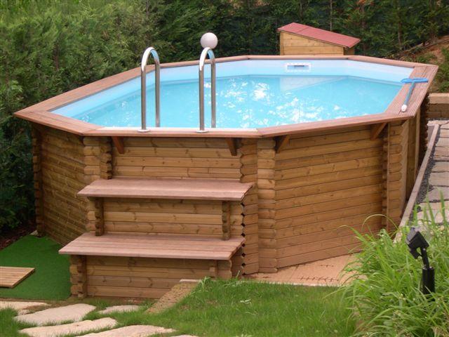 Piscine fuori terra in legno e acciaio installazione e for Faretti per piscine fuori terra