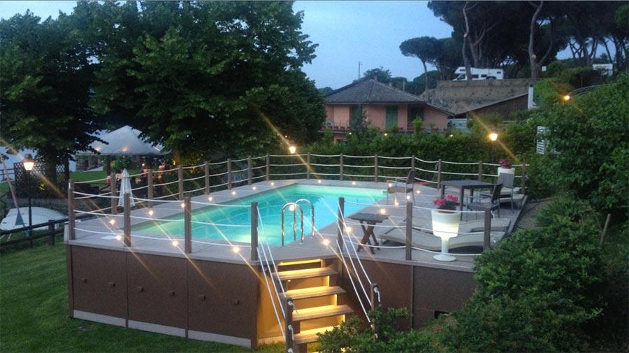 Piscina sopraelevata unicapool fuori terra cta piscine - Piscine rigide fuori terra ...